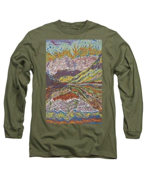 Maroon Bells Long Sleeve T-Shirt by Robert SORENSEN