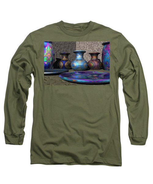 Marrakesh Open Air Market Long Sleeve T-Shirt