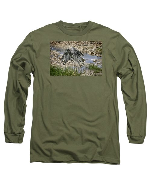 Long Sleeve T-Shirt featuring the photograph Martial Eagle by Gary Hall