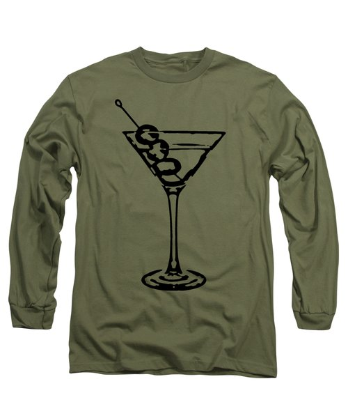 Martini Glass Tee Long Sleeve T-Shirt by Edward Fielding