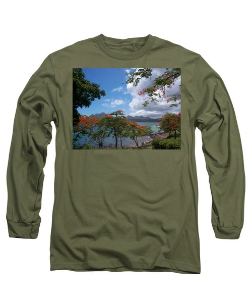 Long Sleeve T-Shirt featuring the photograph Martinique by Mary-Lee Sanders