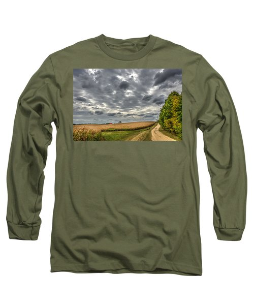Maryland Country Road In Autumn At Twilight Long Sleeve T-Shirt