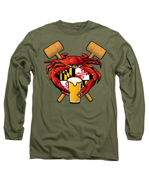 Maryland Crab Feast Crest Long Sleeve T-Shirt