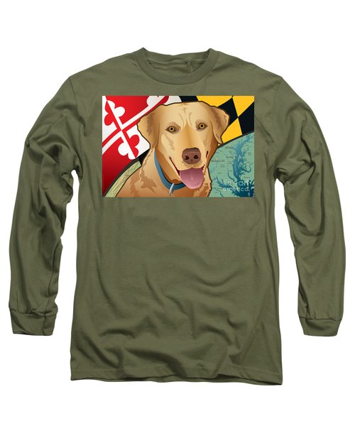 Maryland Yellow Lab Long Sleeve T-Shirt