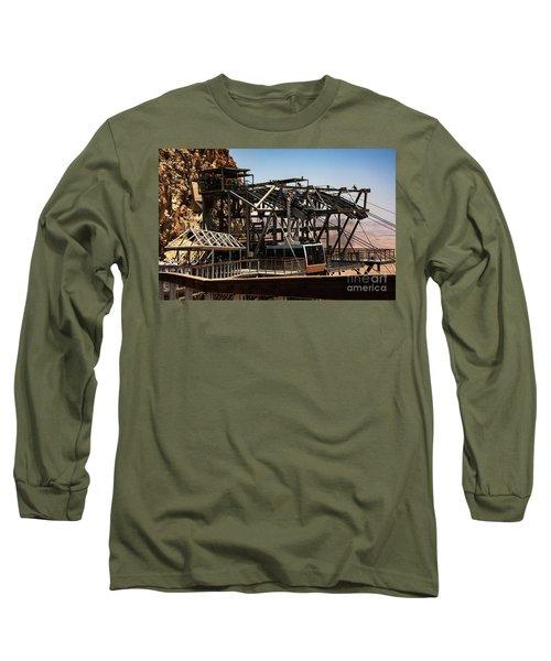 Long Sleeve T-Shirt featuring the photograph Masada Lift by Mae Wertz