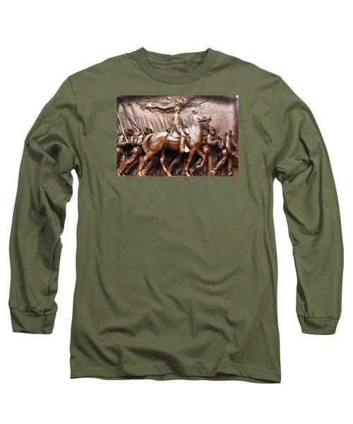 Massachusetts 54th  Long Sleeve T-Shirt by James Kirkikis