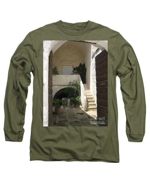 Matera, Italian Courtyard Long Sleeve T-Shirt