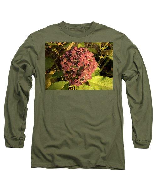 Mature Hydrangea Blossom Cluster Long Sleeve T-Shirt