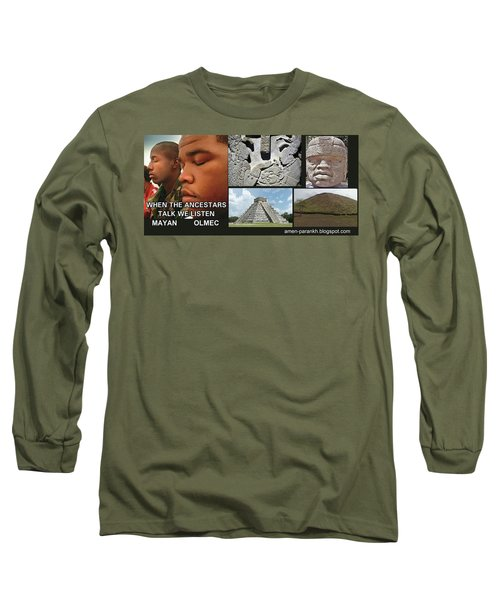 Mayan Olmec Long Sleeve T-Shirt