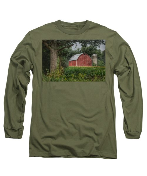 0027 - Mayville's Lapeer Road Red Long Sleeve T-Shirt