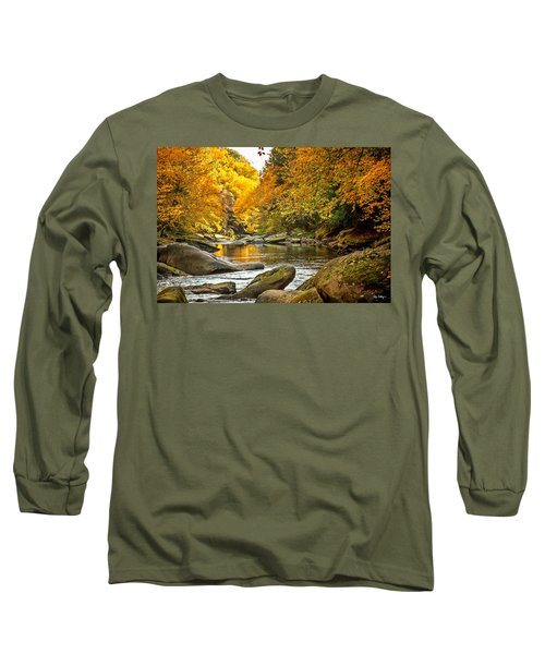Long Sleeve T-Shirt featuring the photograph Mcconnell's Mill State Park by Skip Tribby