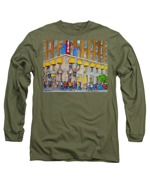 Mcdonald Restaurant Old Montreal Long Sleeve T-Shirt