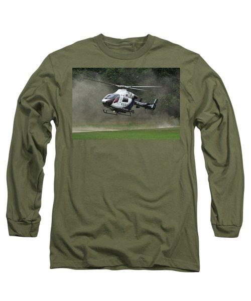 Long Sleeve T-Shirt featuring the photograph Mcdonnell Douglas Md-902 Explorer  by Tim Beach