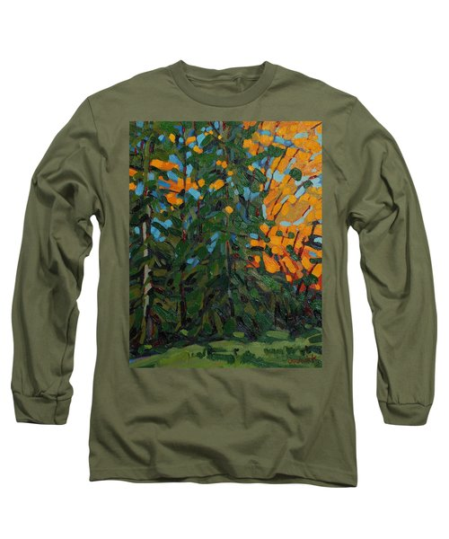 Mcmichael Forest Wall Long Sleeve T-Shirt by Phil Chadwick