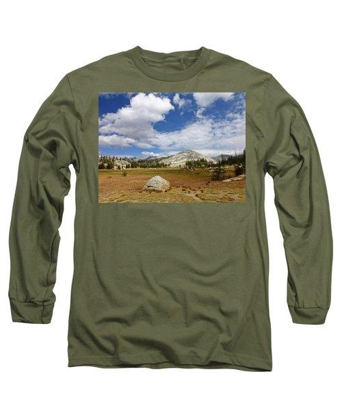 John Muir Trail High Sierra Camp Meadow Long Sleeve T-Shirt by Amelia Racca