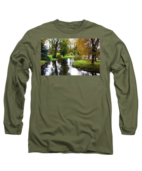 Meandering Creek In Autumn Long Sleeve T-Shirt