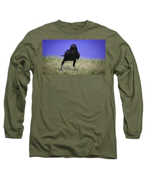 Menacing Crow Long Sleeve T-Shirt