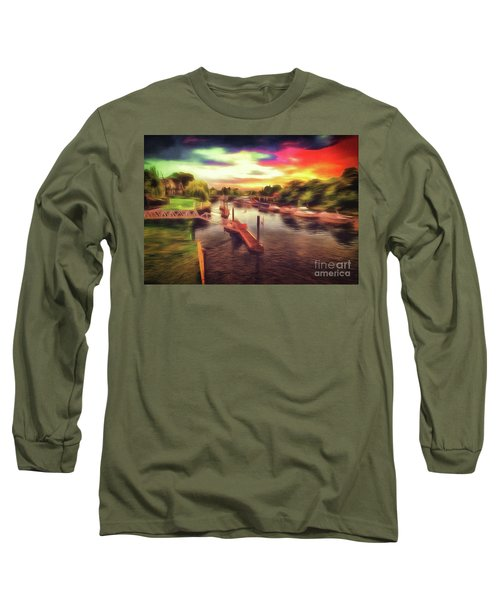 Meanwhile Back On The River Long Sleeve T-Shirt