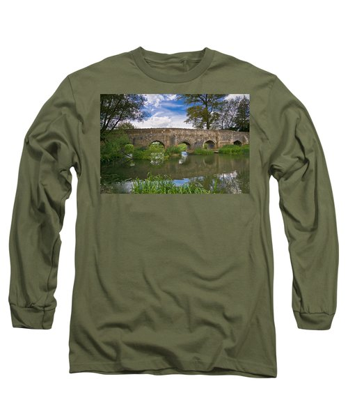 Medieval Bridge Long Sleeve T-Shirt by Scott Carruthers