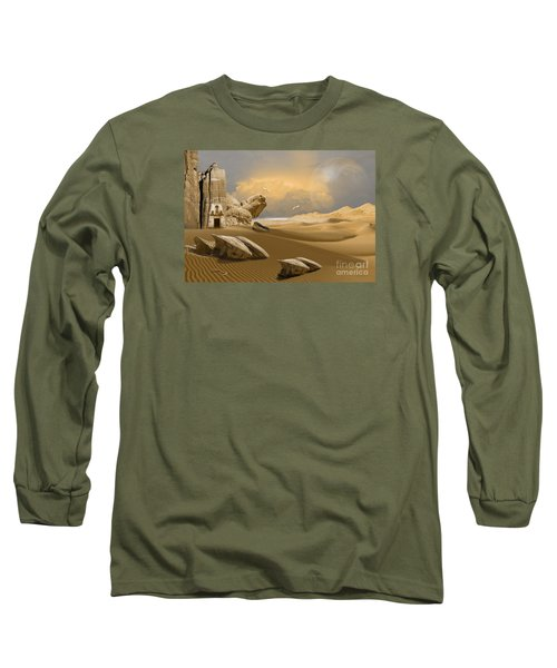 Long Sleeve T-Shirt featuring the digital art Meditation Place by Alexa Szlavics