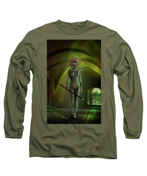 Medusa Long Sleeve T-Shirt by Scott Meyer