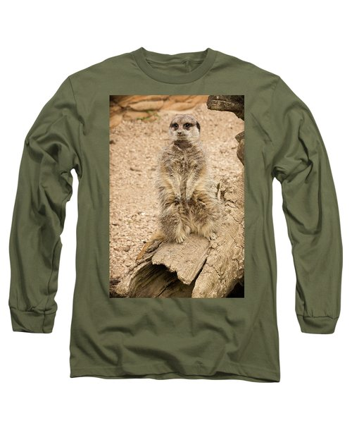 Long Sleeve T-Shirt featuring the photograph Meerkat by Chris Boulton