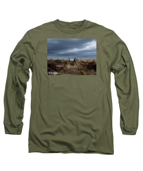 Long Sleeve T-Shirt featuring the photograph Melmerby Beach Boardwalk by Kathleen Sartoris