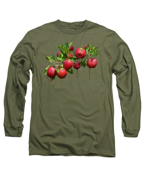 Long Sleeve T-Shirt featuring the digital art Melting Apples by Ivana Westin