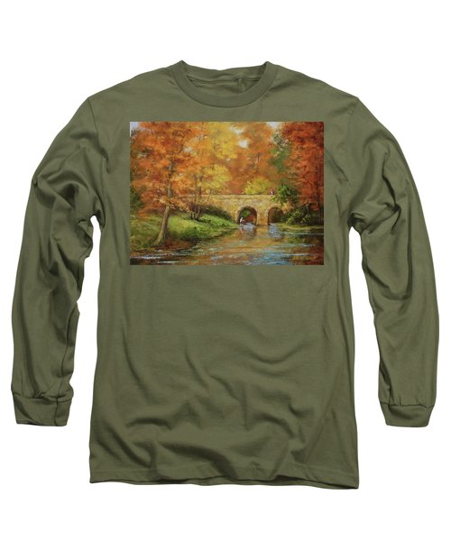 Memories At Stone Bridge Long Sleeve T-Shirt