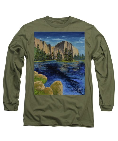 Merced River, Yosemite Park Long Sleeve T-Shirt