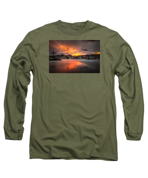 Meredith Sunset Long Sleeve T-Shirt by Robert Clifford