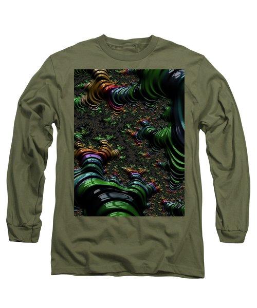 Metallic Roots Long Sleeve T-Shirt by Rajiv Chopra
