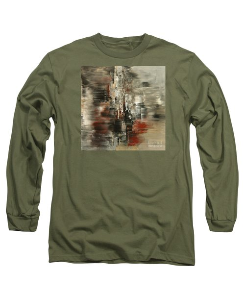 Long Sleeve T-Shirt featuring the painting Metals And Magnetism by Tatiana Iliina