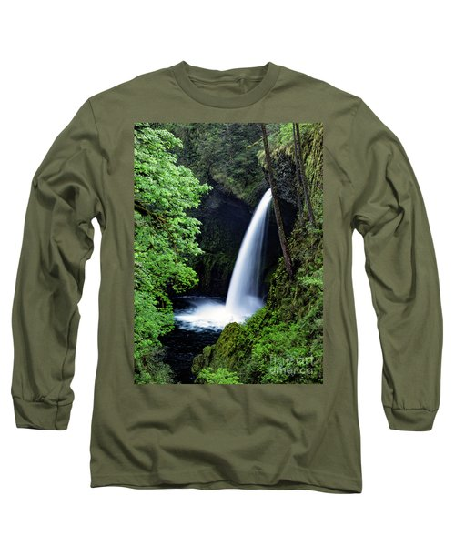 Metlako Falls Waterfall Art By Kaylyn Franks Long Sleeve T-Shirt