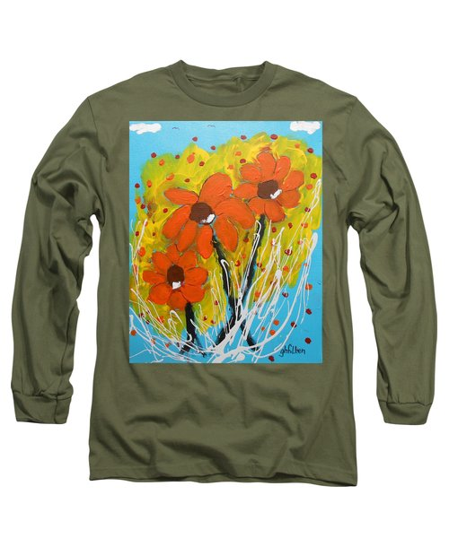 Mexican Sunflowers Flower Garden Long Sleeve T-Shirt
