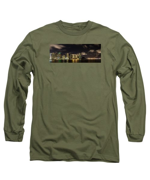 Miami Skyline Long Sleeve T-Shirt