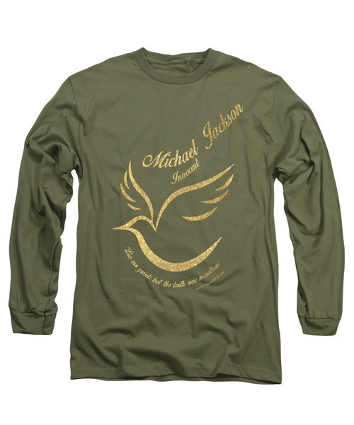Michael Jackson Golden Dove Long Sleeve T-Shirt by D Francis