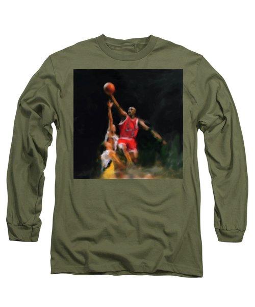 Michael Jordan 548 1 Long Sleeve T-Shirt by Mawra Tahreem