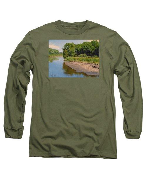 Mid Summer Prairie Stream Long Sleeve T-Shirt by Bruce Morrison