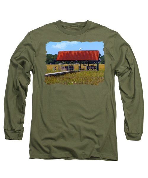 Midday Island Creek View Long Sleeve T-Shirt by Deborah Smith