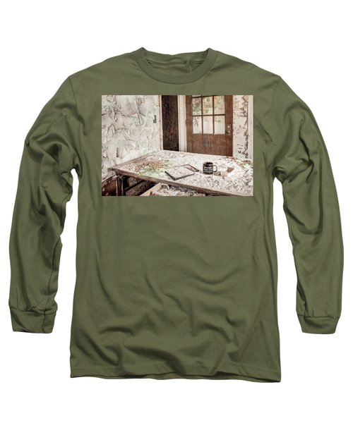 Long Sleeve T-Shirt featuring the photograph Midlife Crisis In Progress - Abandoned Asylum by Gary Heller