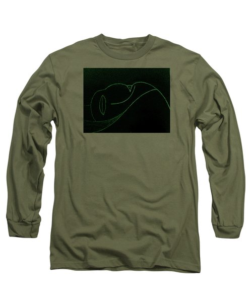 Long Sleeve T-Shirt featuring the painting Midnight by Bill OConnor