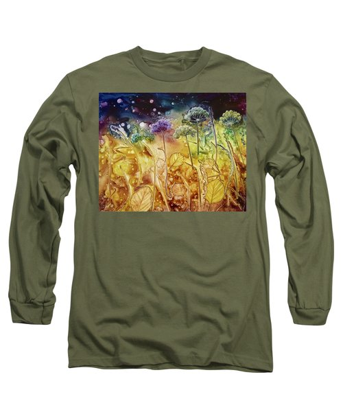 Midnight Flowers Long Sleeve T-Shirt