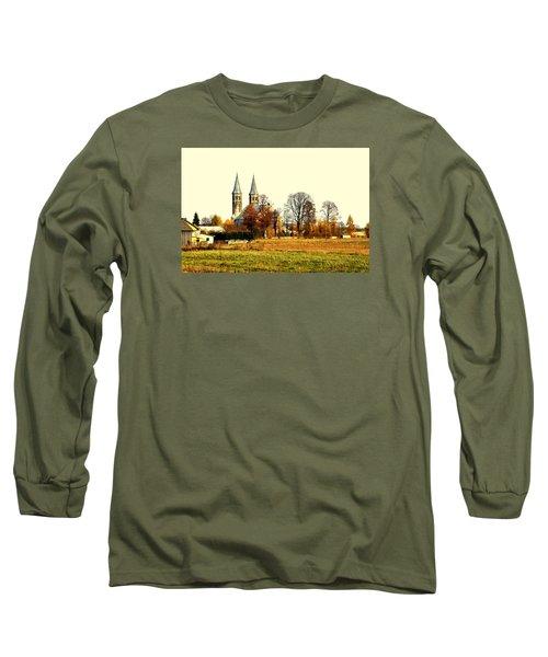 Miedzierza Church Long Sleeve T-Shirt by Henryk Gorecki