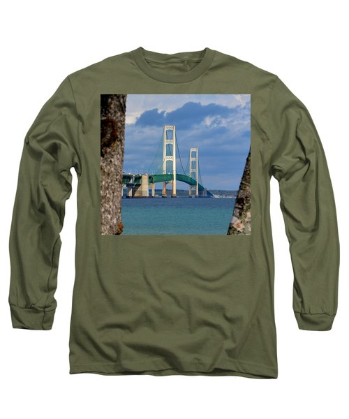 Mighty Mac Framed By Trees Long Sleeve T-Shirt by Keith Stokes