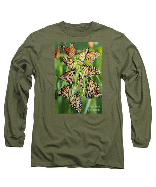 Migration Of Monarchs Long Sleeve T-Shirt