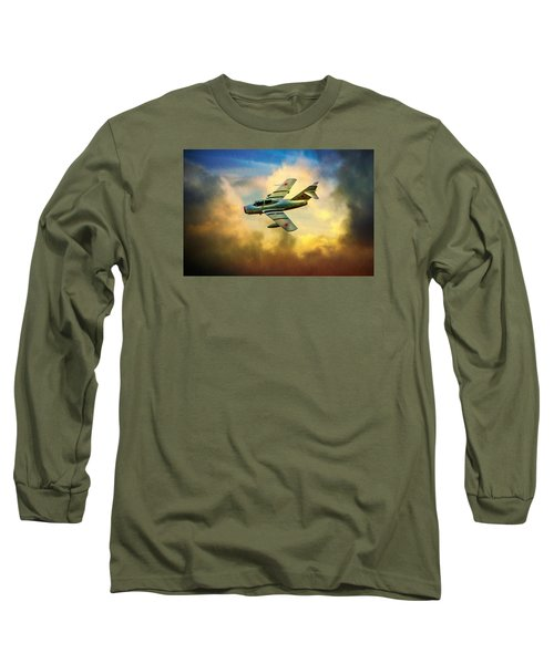 Long Sleeve T-Shirt featuring the photograph Mikoyan-gurevich Mig-15uti by Chris Lord