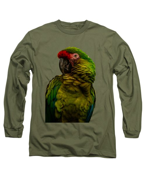 Military Macaw Long Sleeve T-Shirt by Zina Stromberg