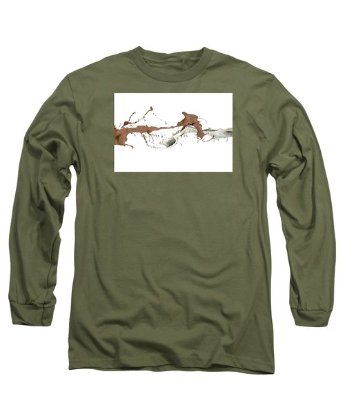 Milk And Liquid Chocolate Splash Long Sleeve T-Shirt