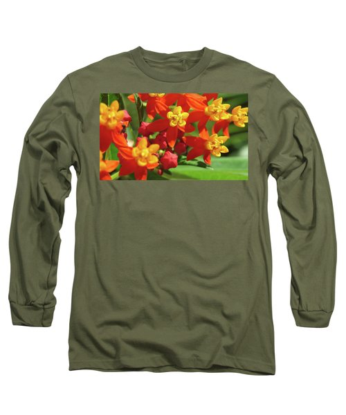 Milkweed Flowers Long Sleeve T-Shirt by Melinda Saminski